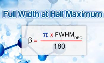محاسبه FWHM - محاسبه پهنای پیک در نیمه ارتفاع