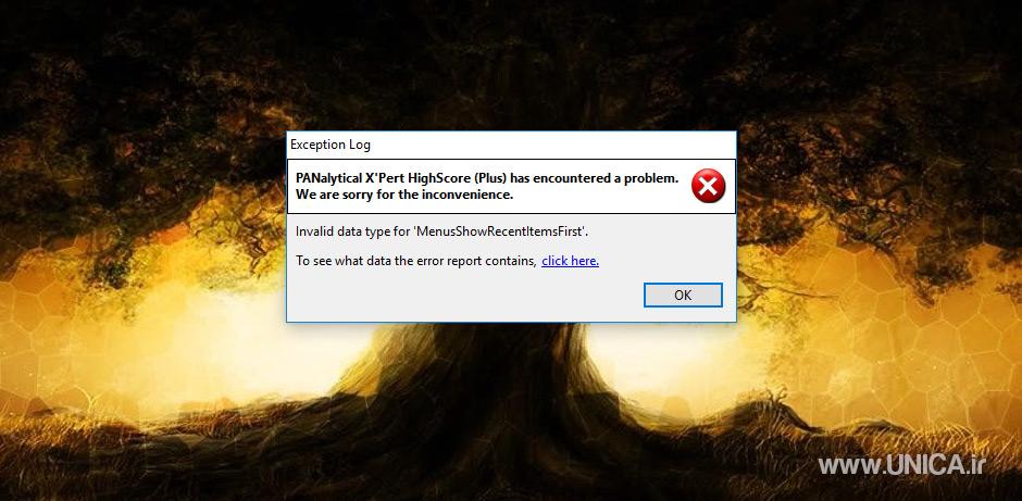 رفع خطای نرم افزار XPert | سایت یونیکا